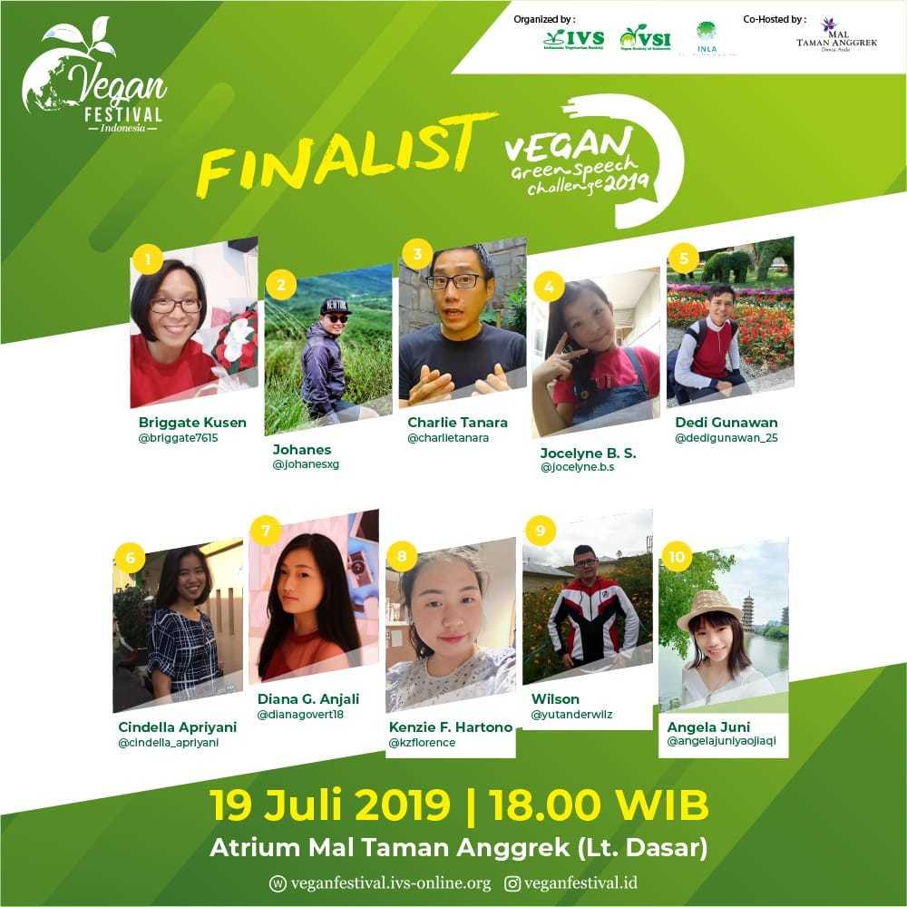 Finalist Vegan Green Speech Challenge 2019 – Vegan Festival